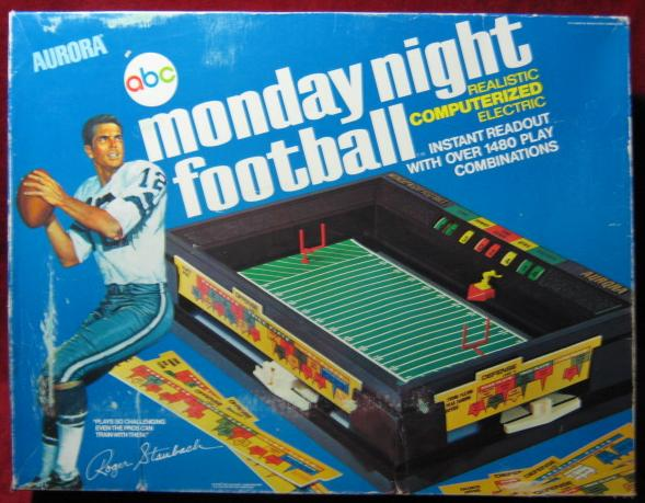 TEMPLATE Aurora Monday Night Football box type 2 VG-EX